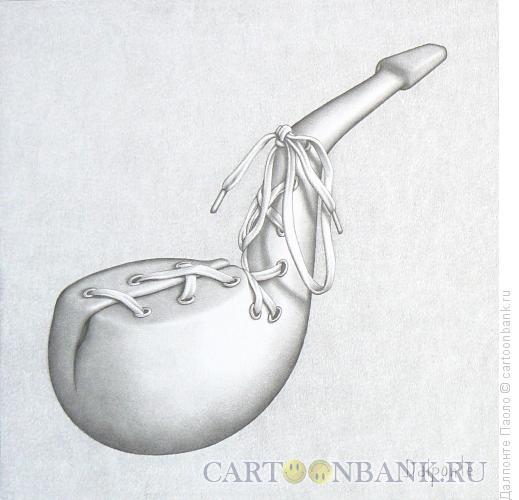 Карикатура: трубка и шнурок, Далпонте Паоло