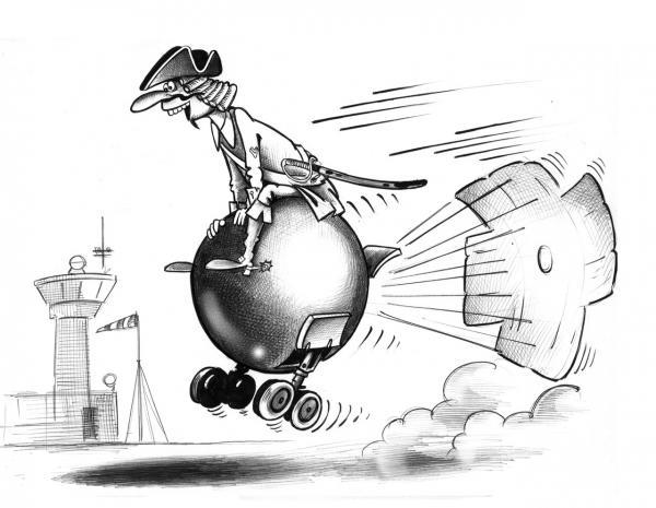 Карикатура: Мюнхгаузен, Сергей Корсун