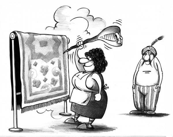 Карикатура: Ковер, Сергей Корсун