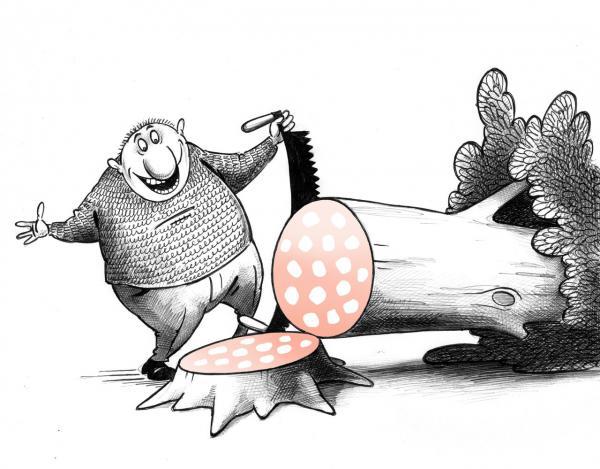 Карикатура: Удача, Сергей Корсун