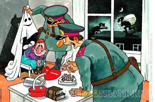 Карикатура: Карлсон попался, Дружинин Валентин