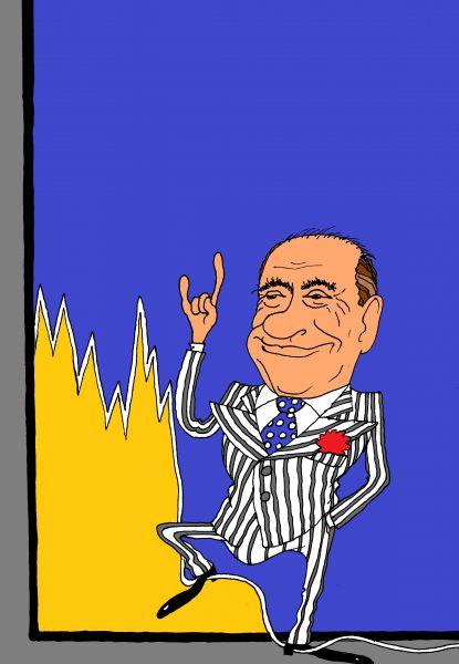 Карикатура: Берлускони, михаил ларичев