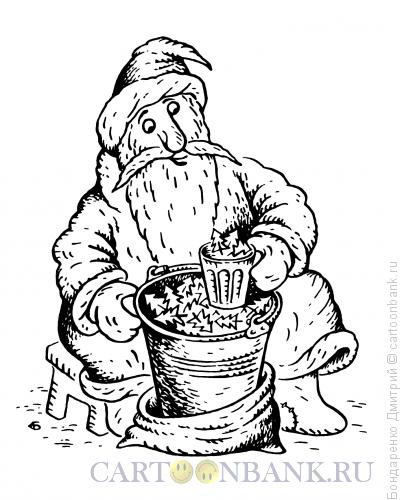 Карикатура: Торговец ёлками, Бондаренко Дмитрий