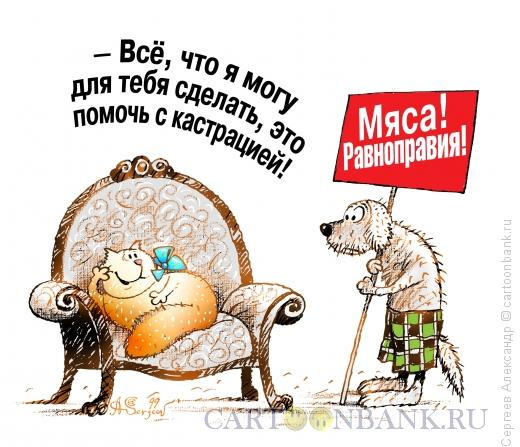 Карикатура: Права и комфорт, Сергеев Александр
