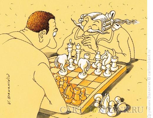 Карикатура: Кони барона Мюнхаузена, Дружинин Валентин