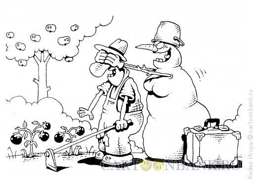 Карикатура: Приход холодов, Кийко Игорь