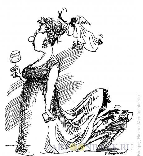 Карикатура: Литературные рабы, Богорад Виктор