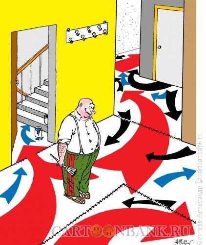 Карикатура: Генерал на пенсии, Сергеев Александр