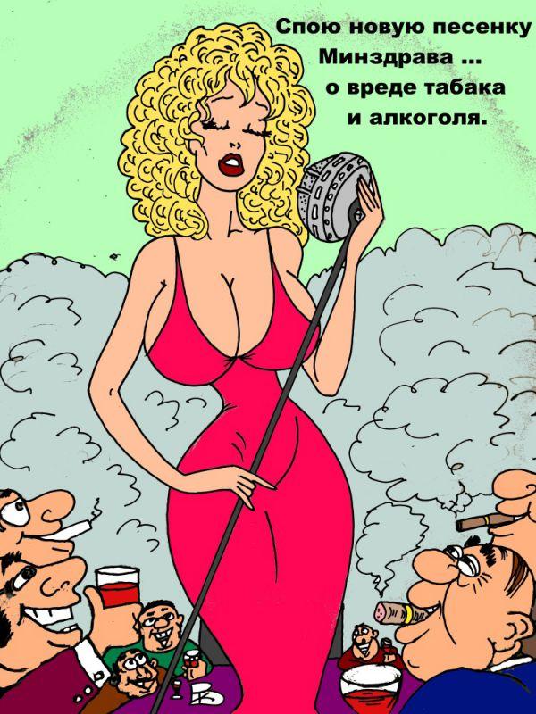 Карикатура: А вдруг поможет?, Валерий Каненков