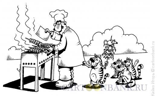 Карикатура: Шашлык, Кийко Игорь
