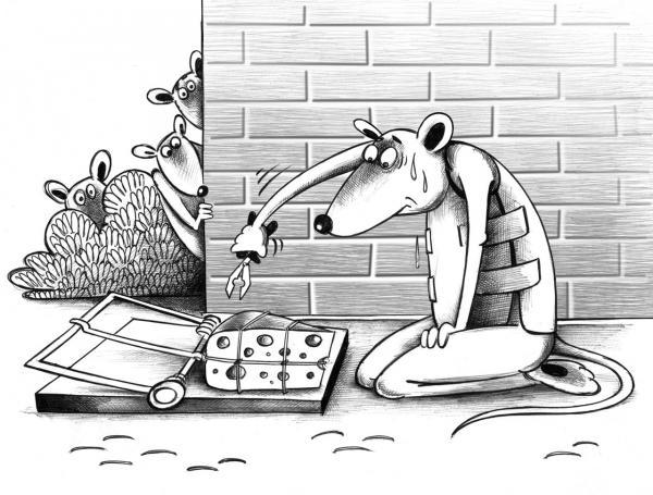 Карикатура: Сапер, Сергей Корсун
