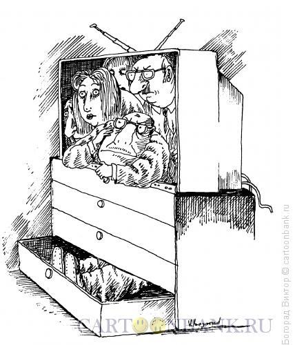 Карикатура: Ящик, Богорад Виктор