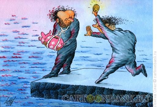 Карикатура: Финансовая помощь, Локтев Олег