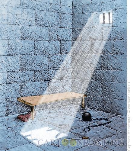 Карикатура: Побег из тюрьмы, Сергеев Александр