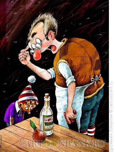 Карикатура: Буратино нос, Дружинин Валентин