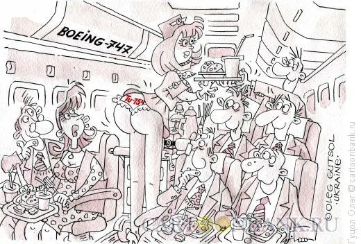 Карикатура: Стюардесса патриот, Гуцол Олег