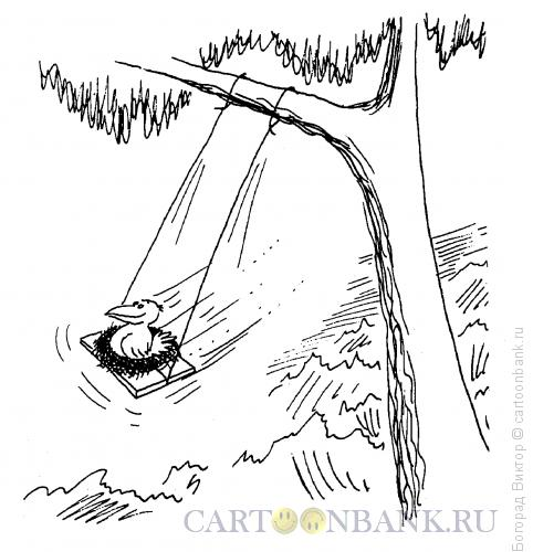 Карикатура: Качели, Богорад Виктор