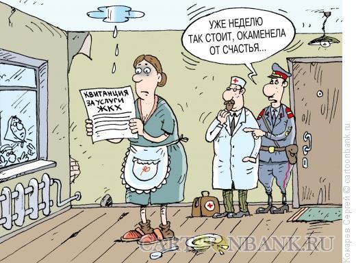 Карикатура: каменная Зоя, Кокарев Сергей