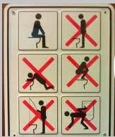 Карикатура: В туалете, Инкогнито