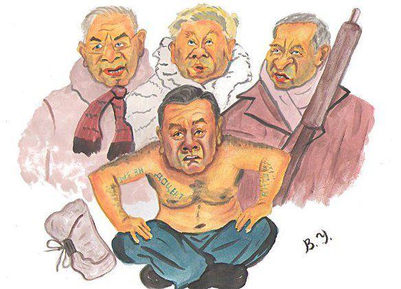 Карикатура: Джентельмены удачи.