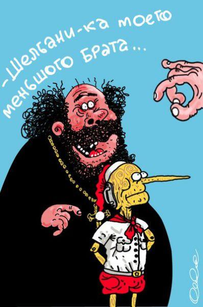 Карикатура: Не гонялся бы ты поп..., Олег Горбачев