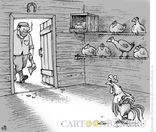 Карикатура: Защитник отечества, Дубинин Валентин