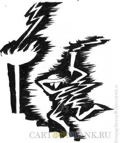 Карикатура: Зажигание олимпийского огня, Богорад Виктор