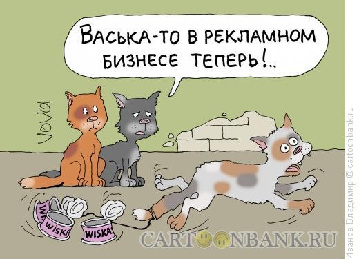 Карикатура: Рекламный агент, Иванов Владимир