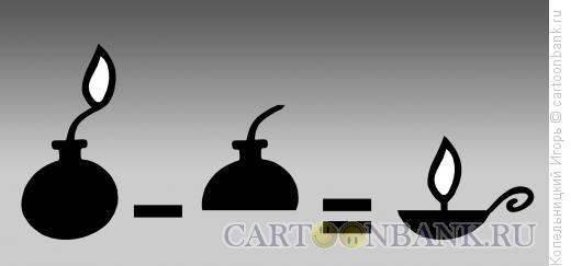 Карикатура: лампада, Копельницкий Игорь