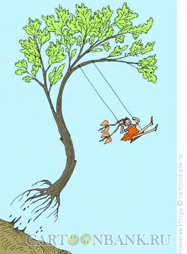 Карикатура: Отрыв (в цвете), Никитин Игорь