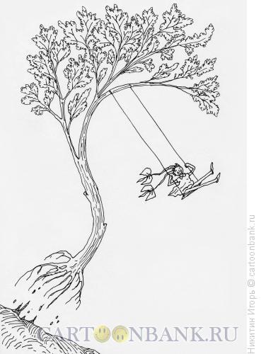 Карикатура: Отрыв, Никитин Игорь