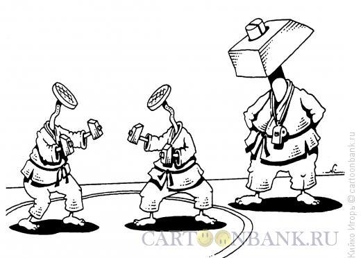 Карикатура: Ученики и тренер, Кийко Игорь