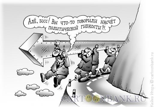 Карикатура: Политическая гибкость, Кийко Игорь