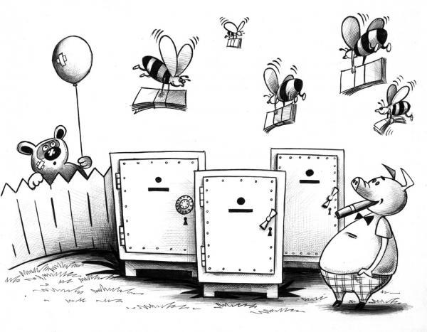 Карикатура: Правильные пчелы, Сергей Корсун