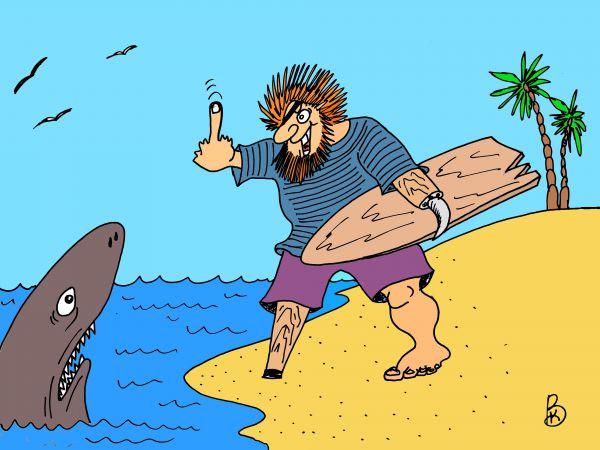 Карикатура: фанат, Валерий Каненков