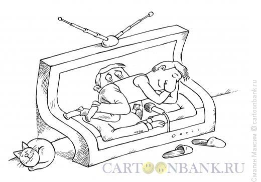 Карикатура: Теледиван, Смагин Максим