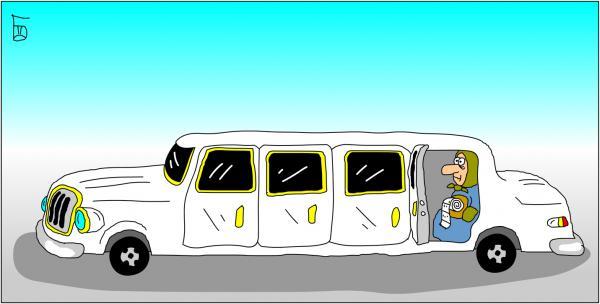 Карикатура: Лимузин, Дмитрий Бандура