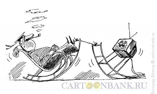 Карикатура: Довольный телезритель, Богорад Виктор