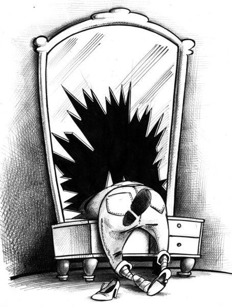 Карикатура: Плохая примата, Сергей Корсун