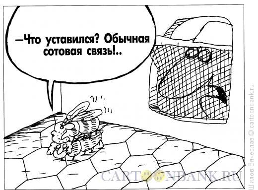 Карикатура: Сотовая связь, Шилов Вячеслав