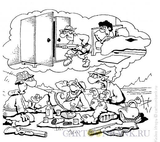 Карикатура: Охотничьи байки, Кийко Игорь
