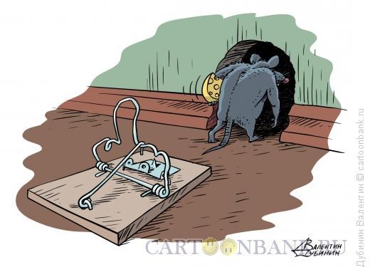 Карикатура: Мыш -силач, Дубинин Валентин