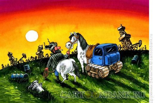 Карикатура: Трактор, Дружинин Валентин