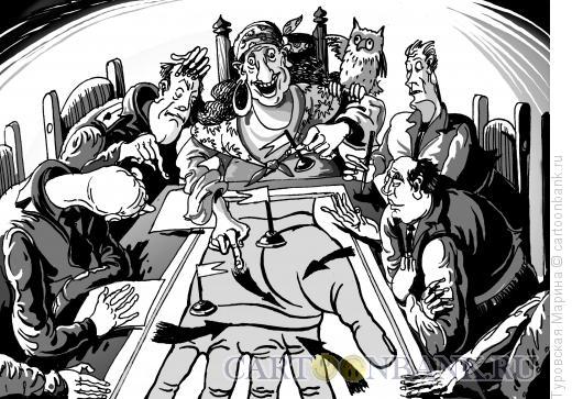 Карикатура: Гадалка в генштабе, Туровская Марина