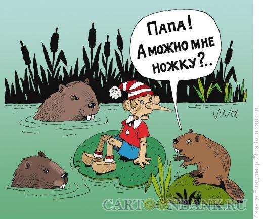 Карикатура: Мне ножку, Иванов Владимир