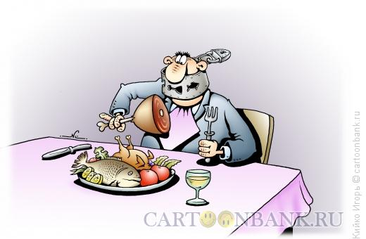 Карикатура №477107 карикатура: диета, дмитрий бандура.