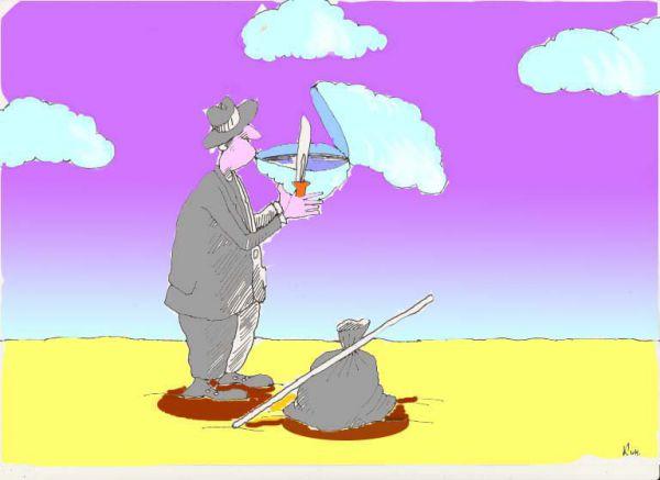 Карикатура: Если пить сильно хочется..., Николай Кинчаров