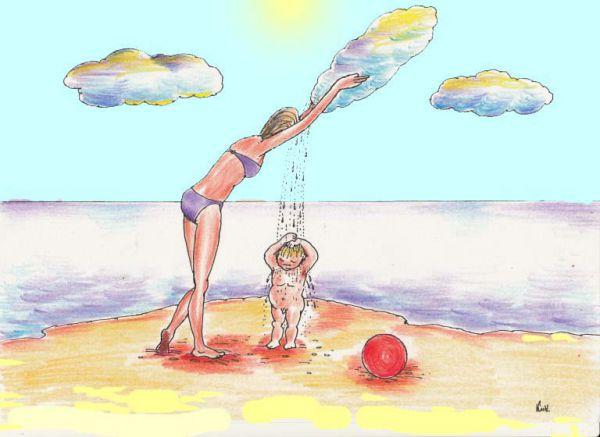 Карикатура: Детство...мамина сказка, Николай Кинчаров