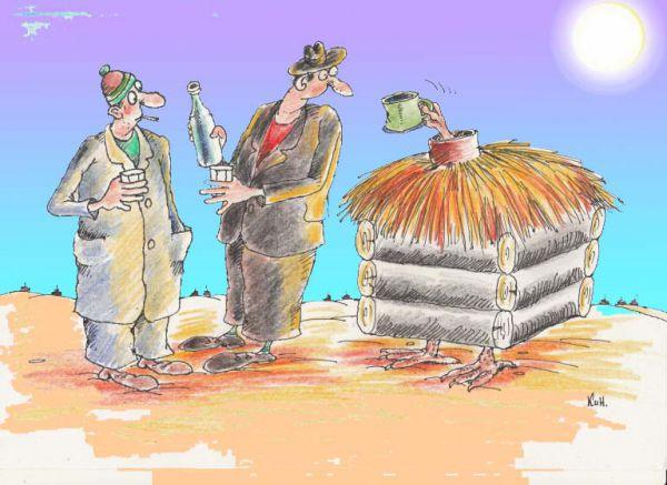 """Карикатура: """"Плесни,милок,волшебного напитка!"""", Николай Кинчаров"""