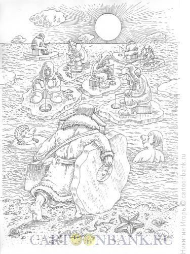 Карикатура: рыбалка, Никитин Игорь
